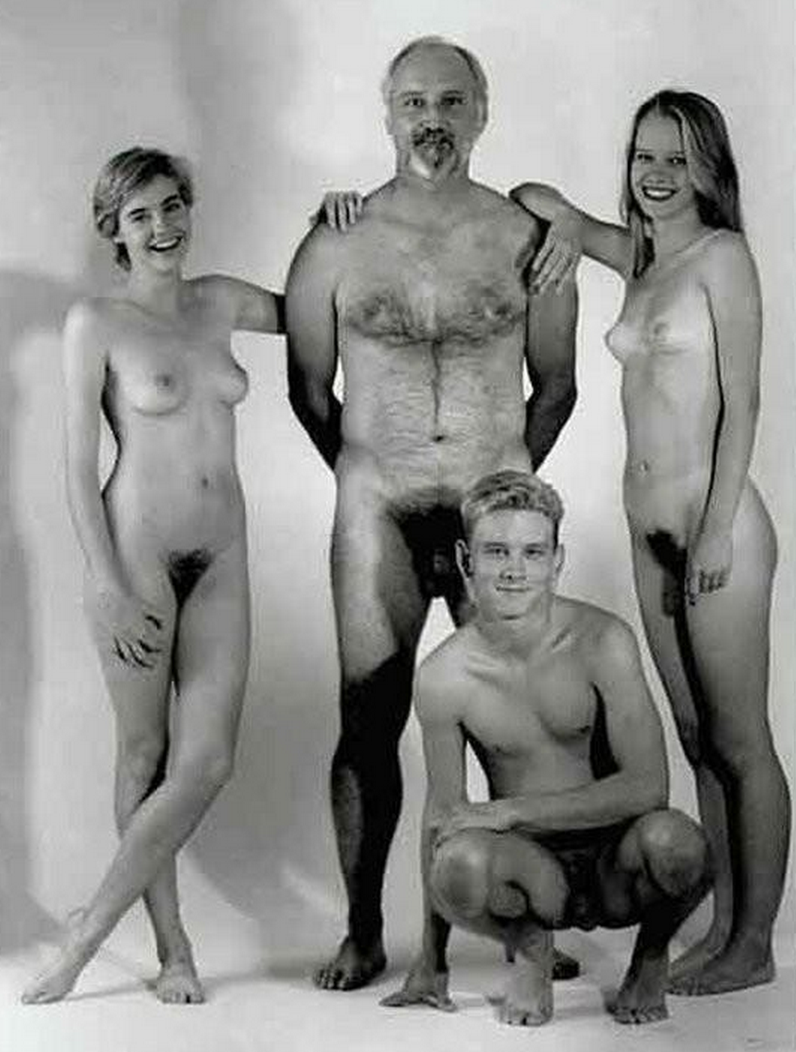 nudists family Young black