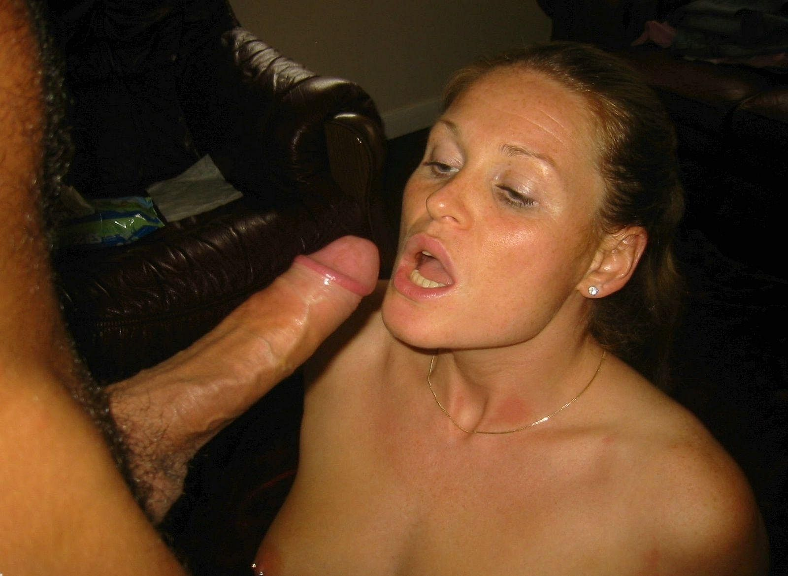 Thick White Cock Blowjob