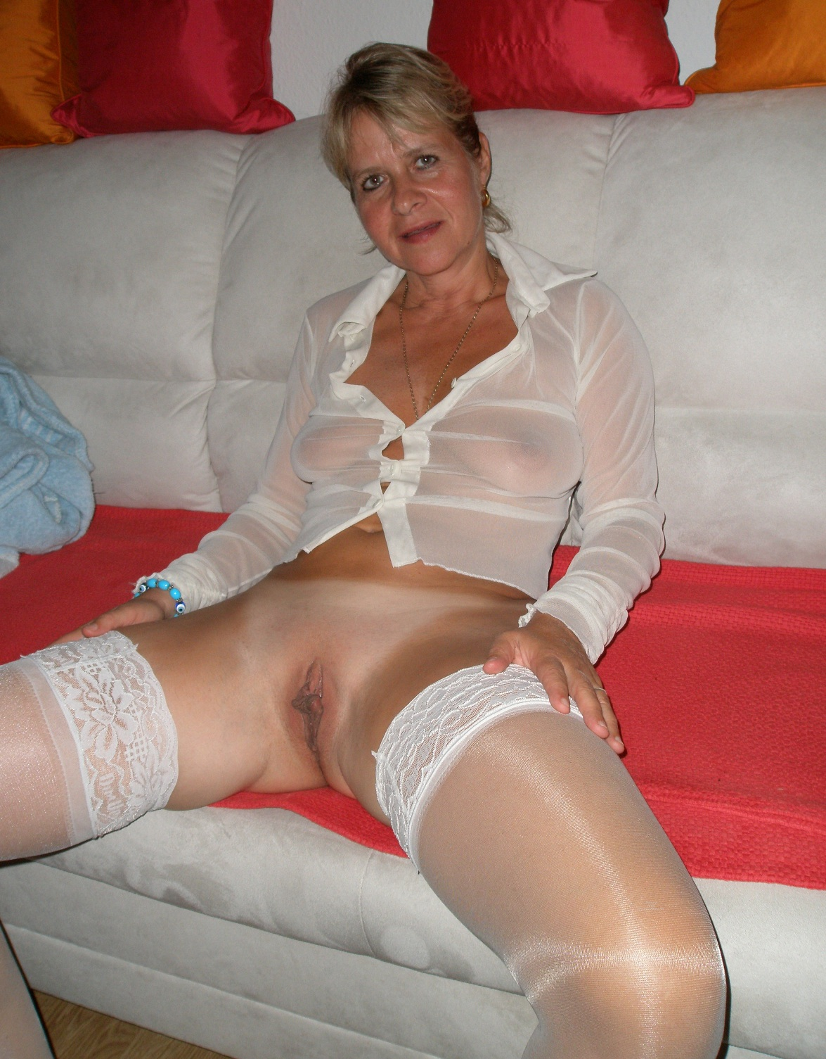 Mature grannies in sheer lingerie apologise