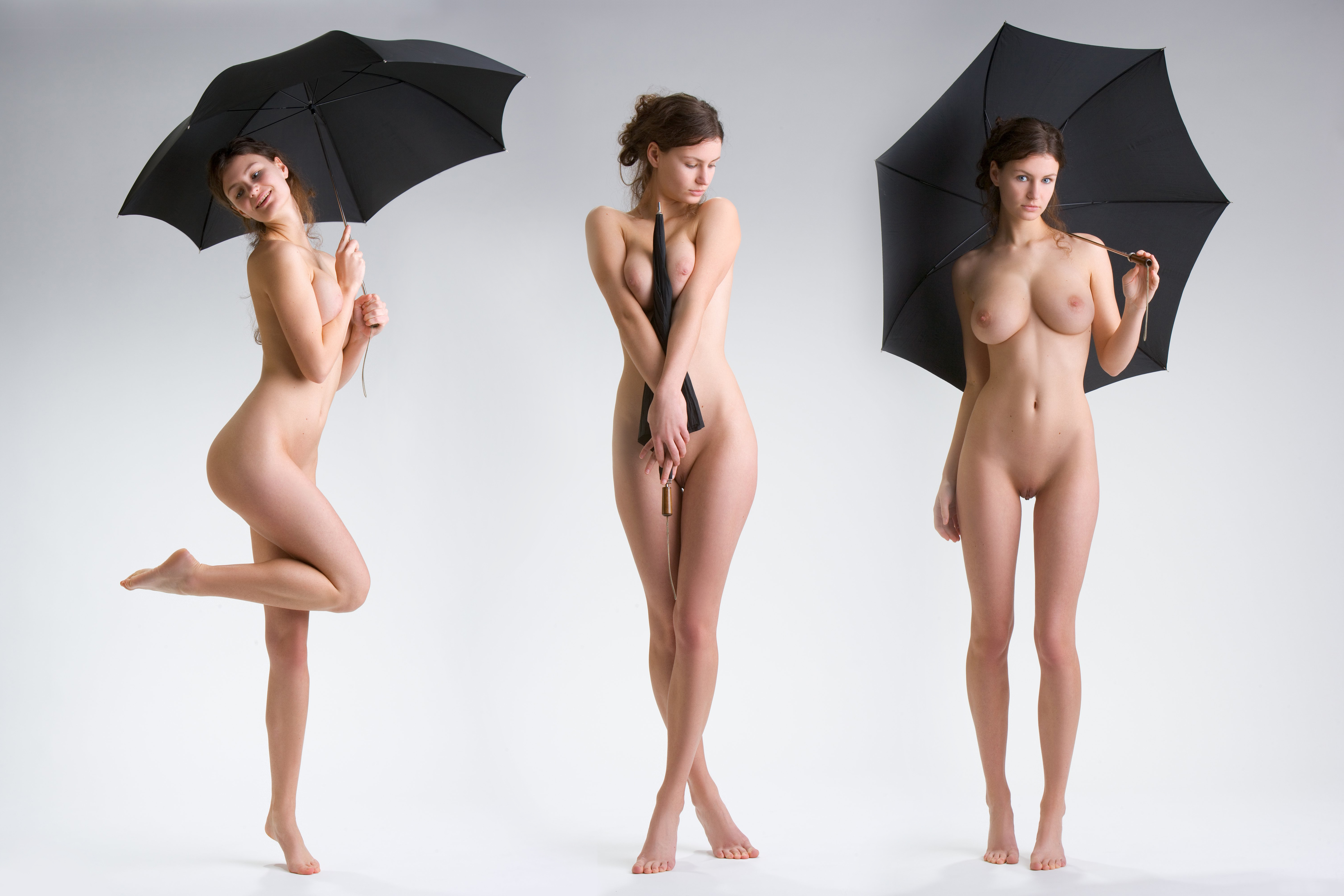 Perfect hourglass nude women can