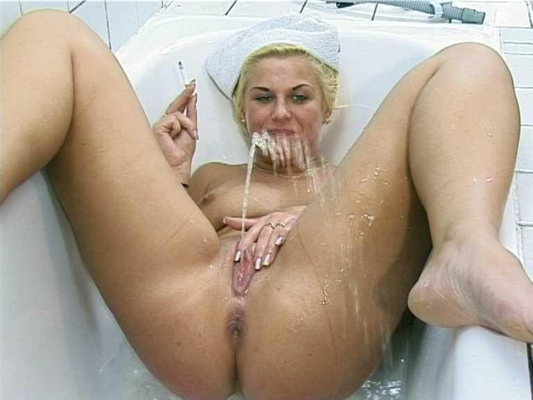 Women peeing in own mouth