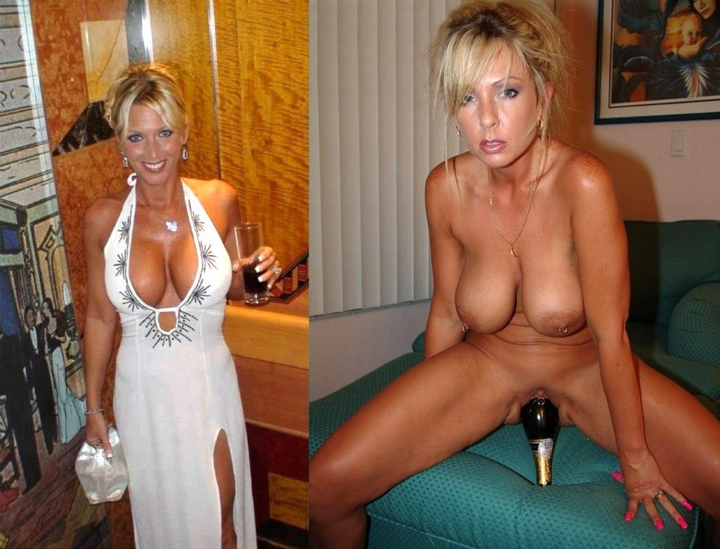 milf Wife dressed undressed