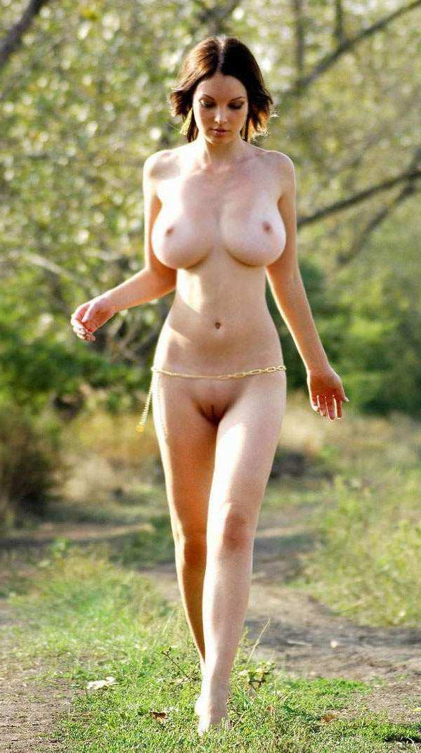 Slender nude women with heavy breasts