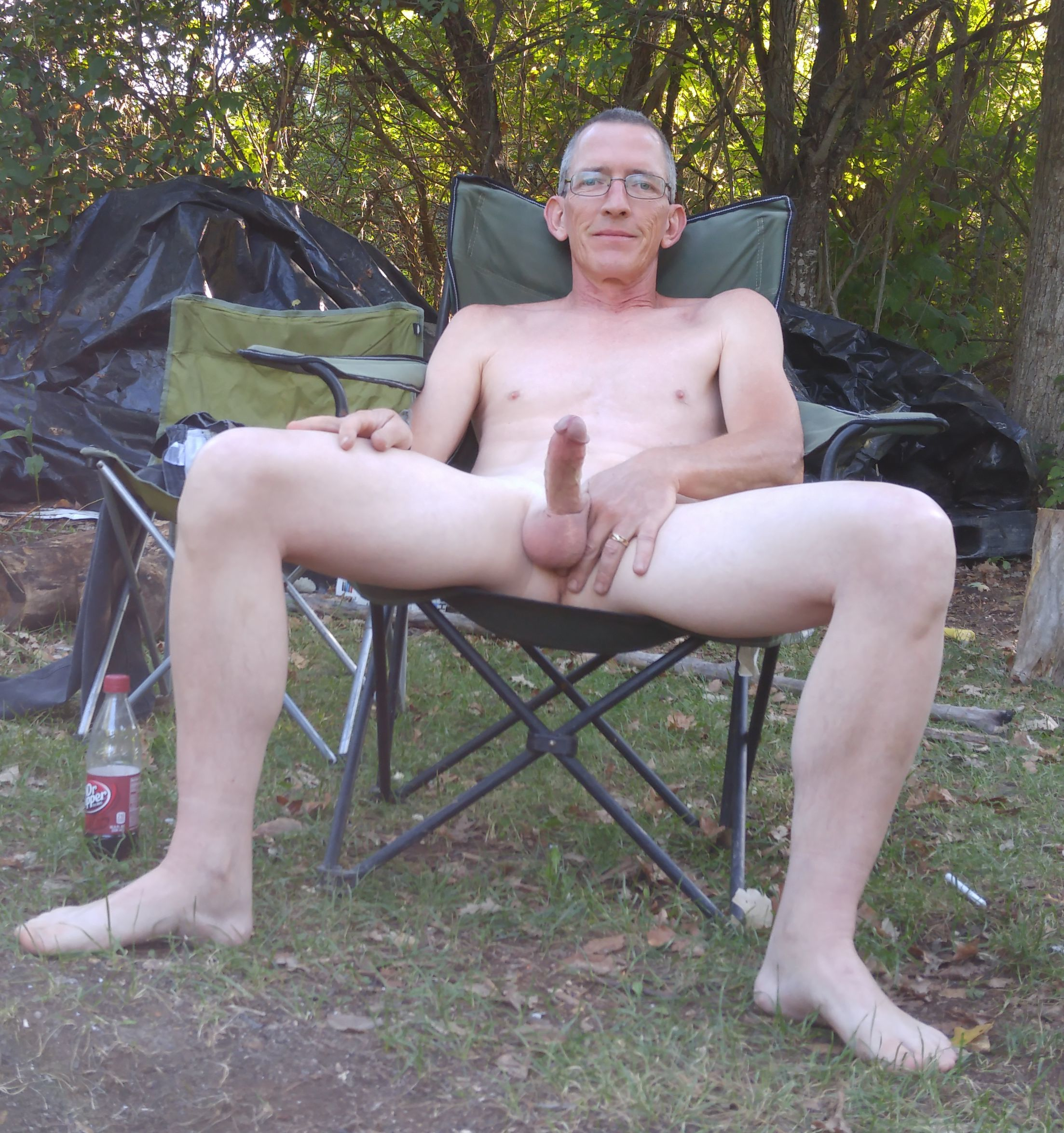 Naked amateur wife camping are