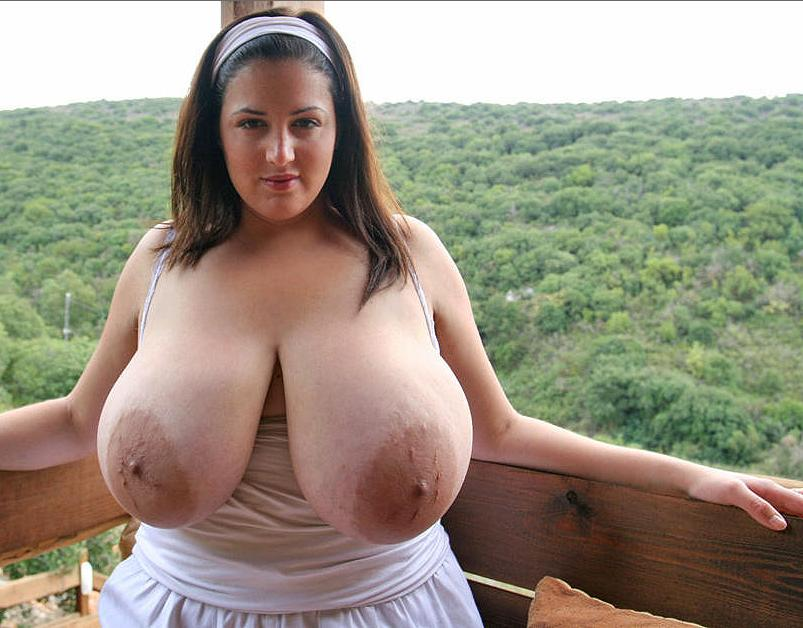 Mature tits out in public