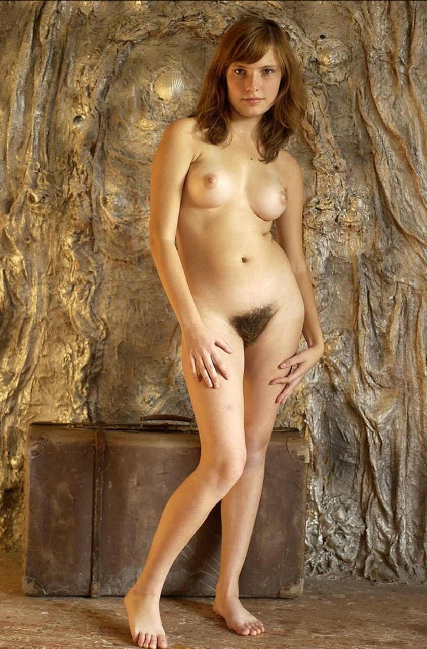 Nude woman with three boobs