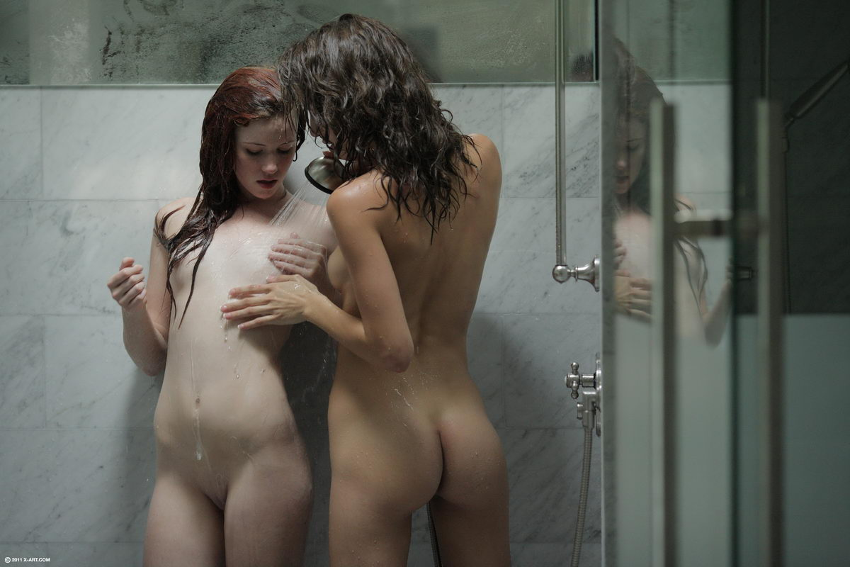 Lesbian Sisters The Shower