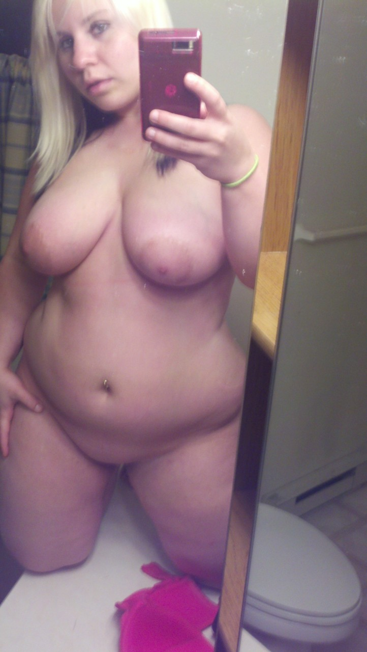 Tits selfie bathroom