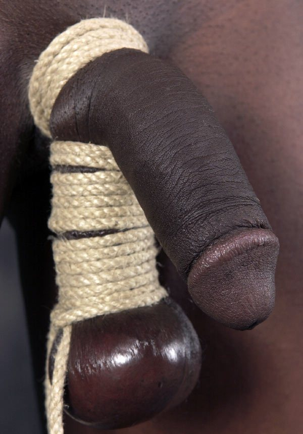 Wife tortured with a black cock