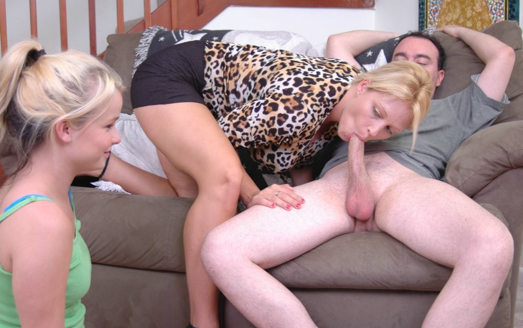 Teaches daughter to fuck