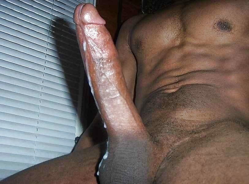 Cumming on black cock