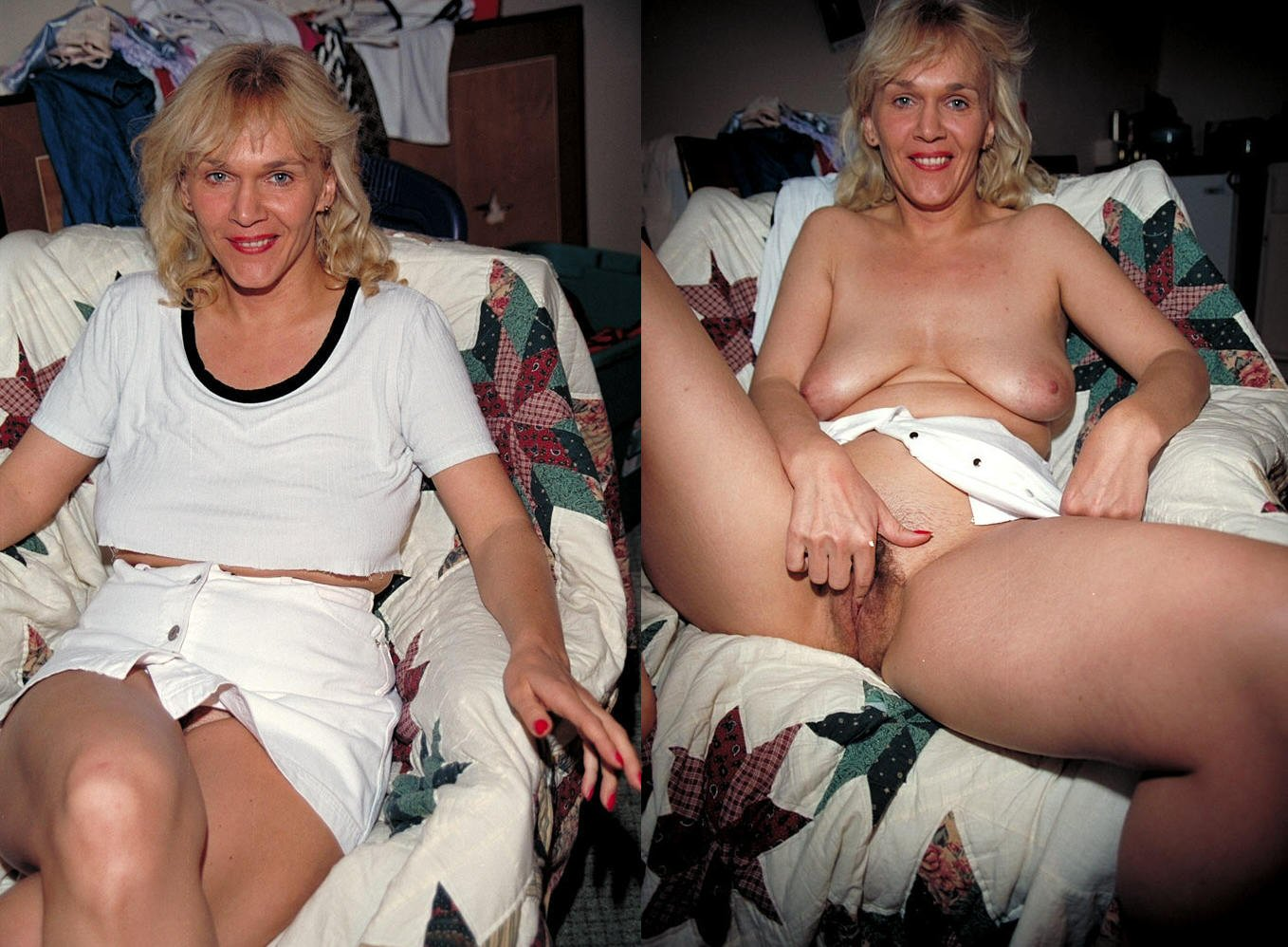 naked mom on bed