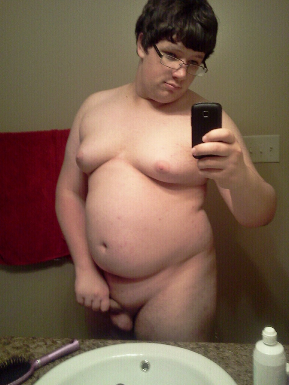 Boy fat butt naked