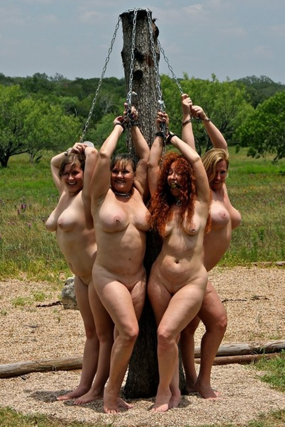 Nude women as slaves consider, that