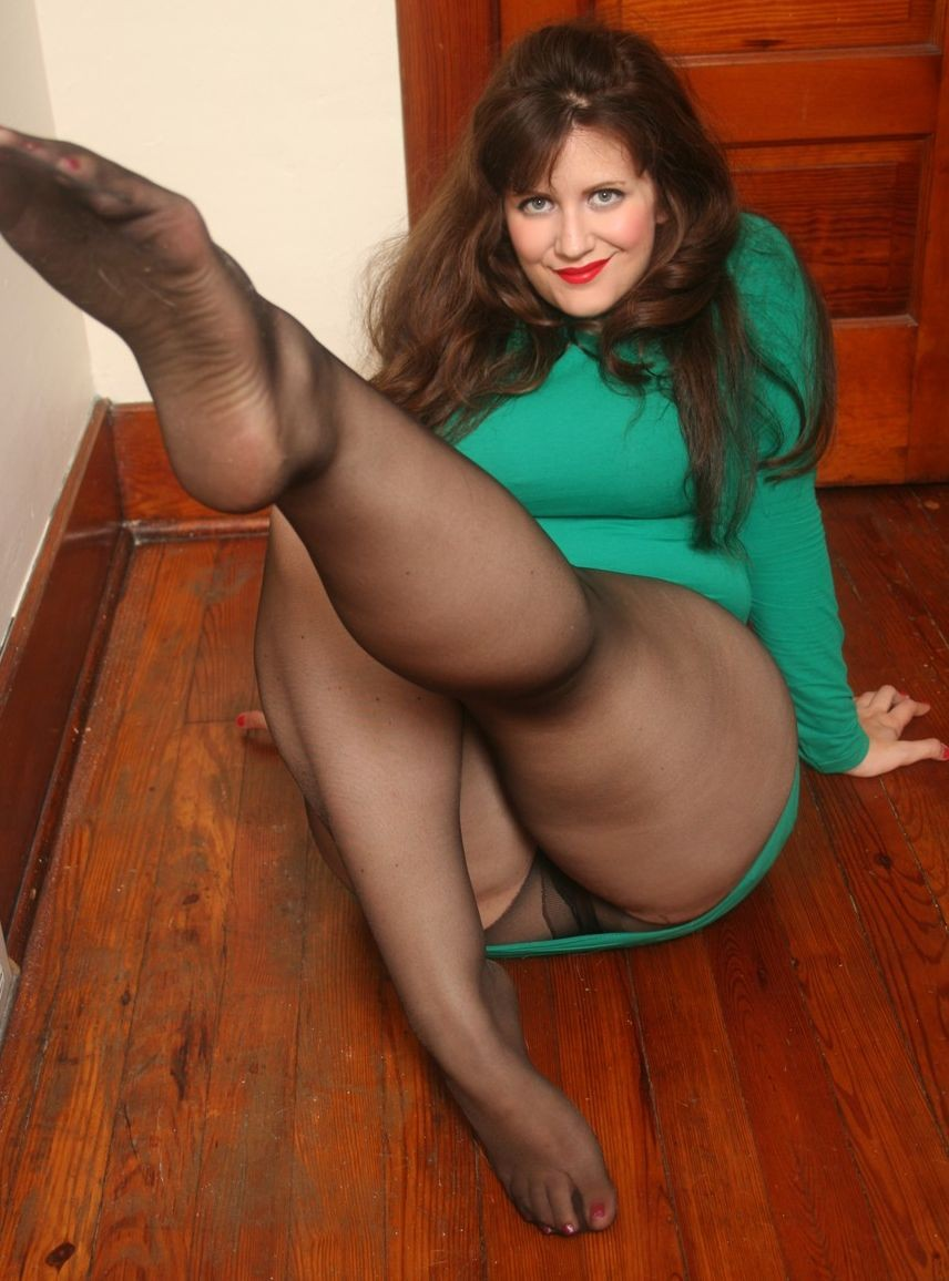 Hot woman in pantyhose