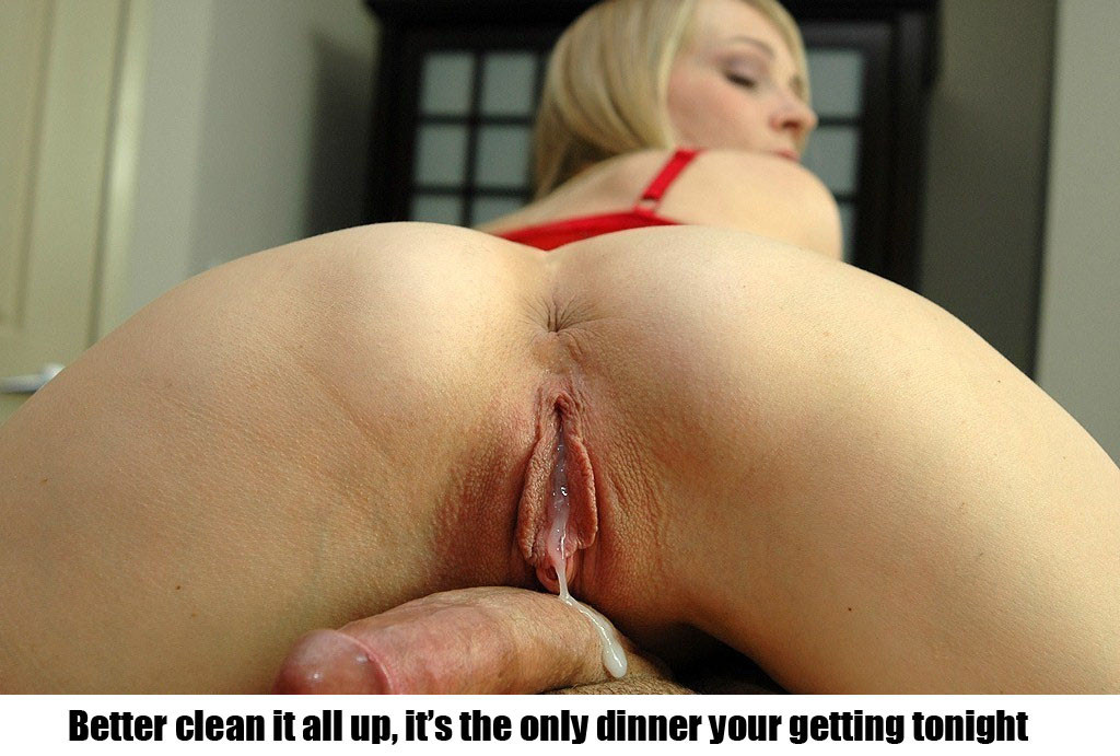 creampie clean captions Cuckold up