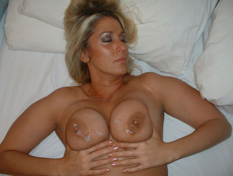 Milf one boob out with