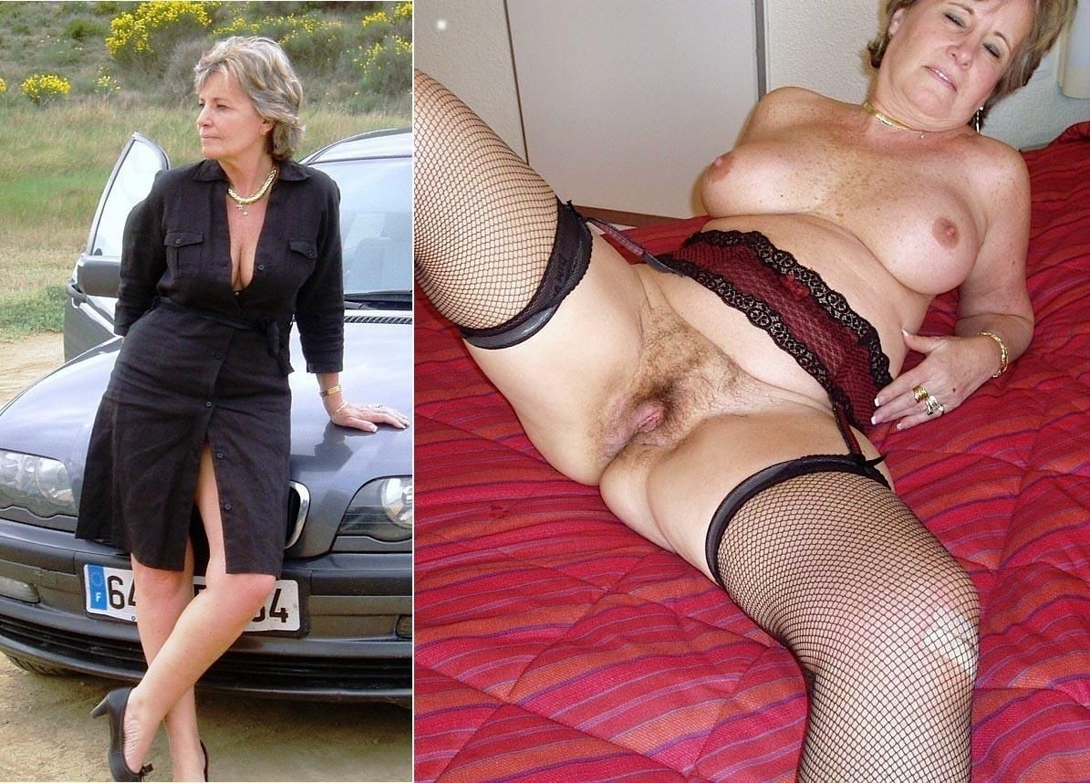 mature nude undressed after Dressed before