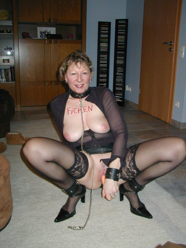 Sandy mature stockings