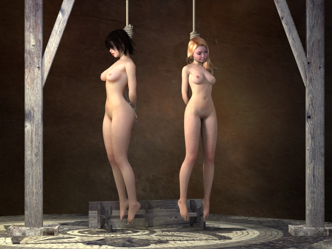 Bdsm hanged gallows