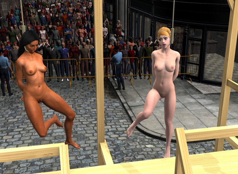 Nude women executed by firing squad pics