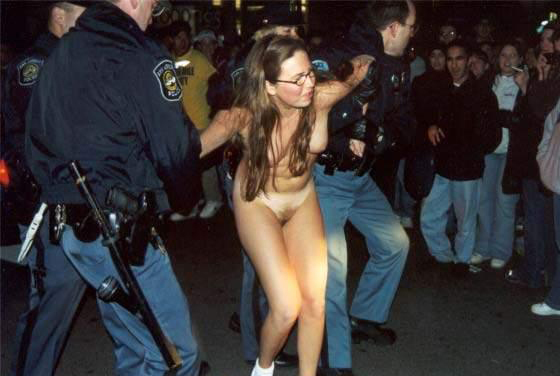 public Naked embarrassed in
