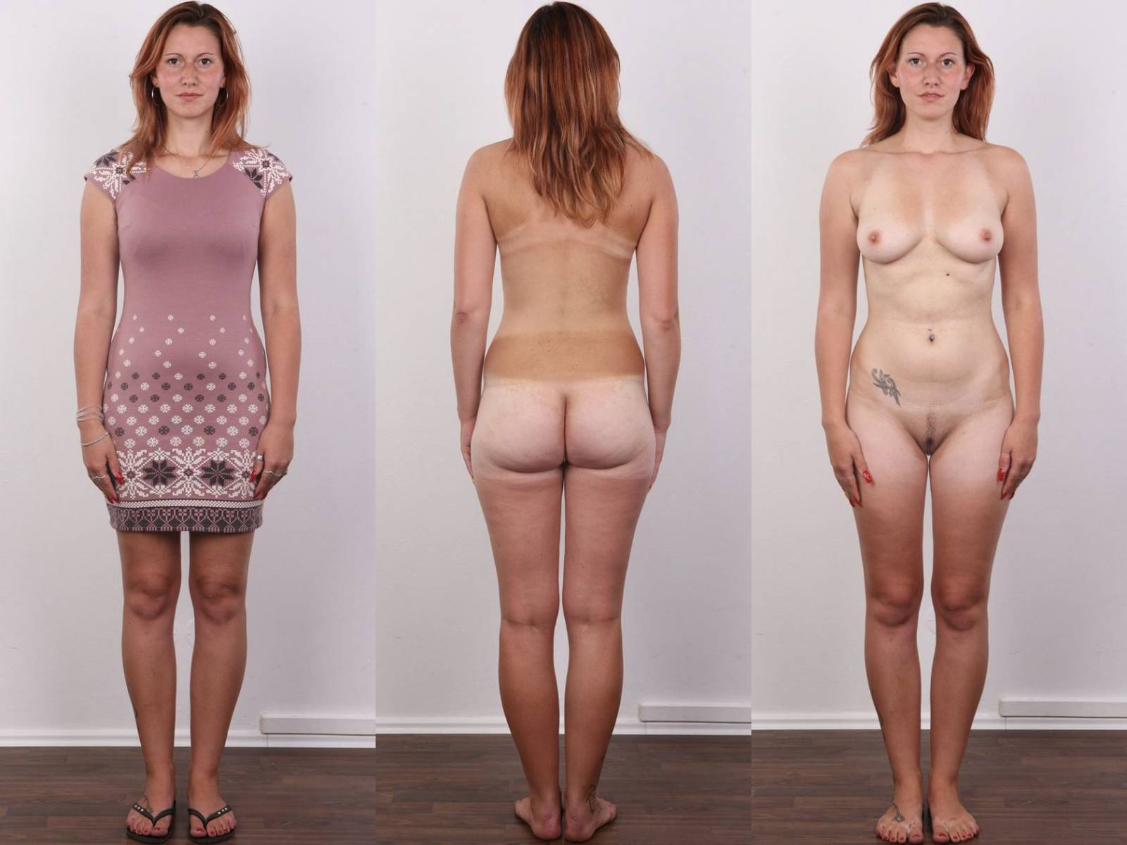 Clothed and nude