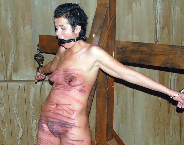 Naked whipped torture