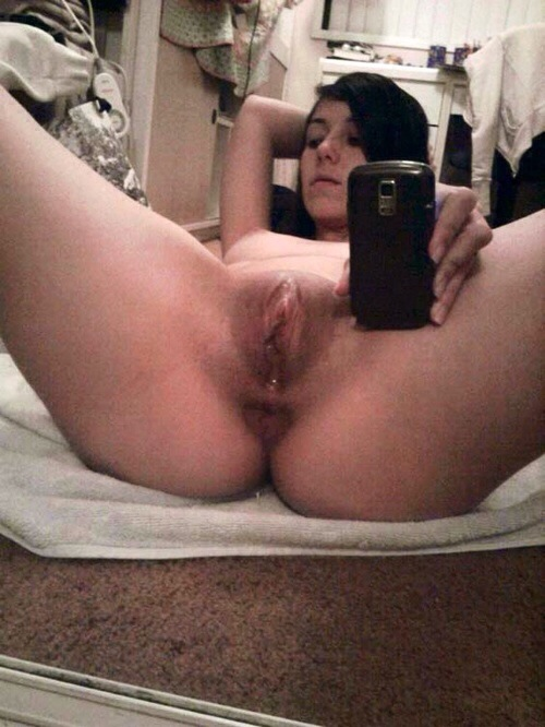 Abuse cock in pussy in mirror