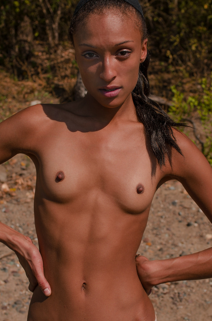 Naked flat chested