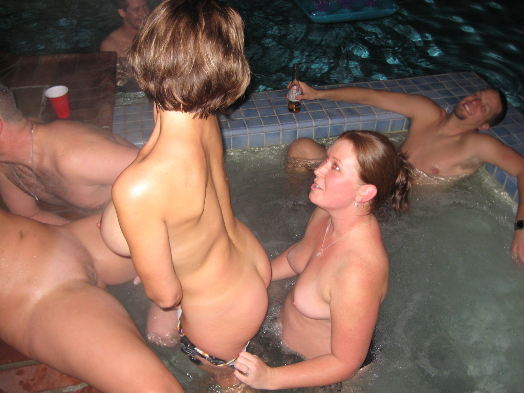 naked Hot tub party