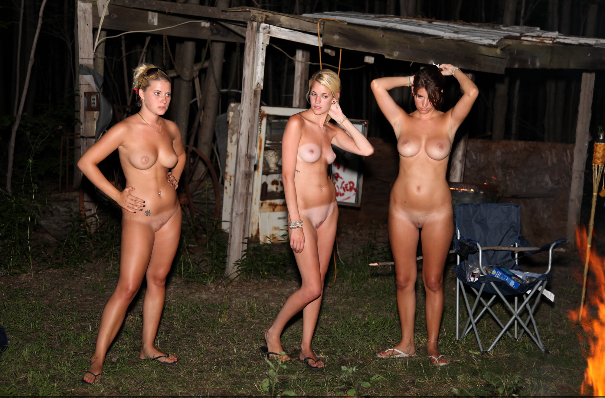 Nude On A Camper