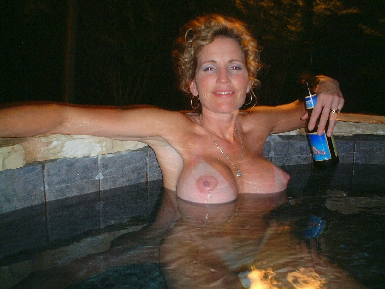 skinny girl with big breast naked shower