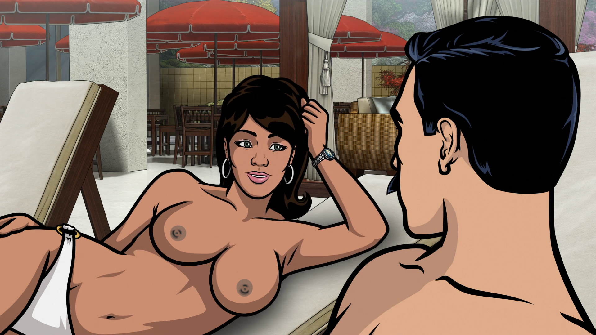 Hot pam from archer naked nackt thumbs