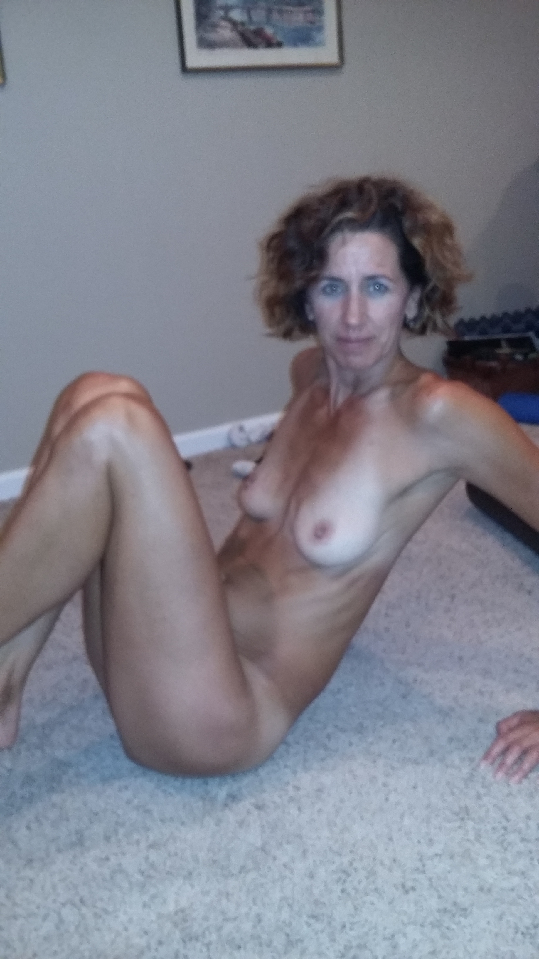 naked wife shy very