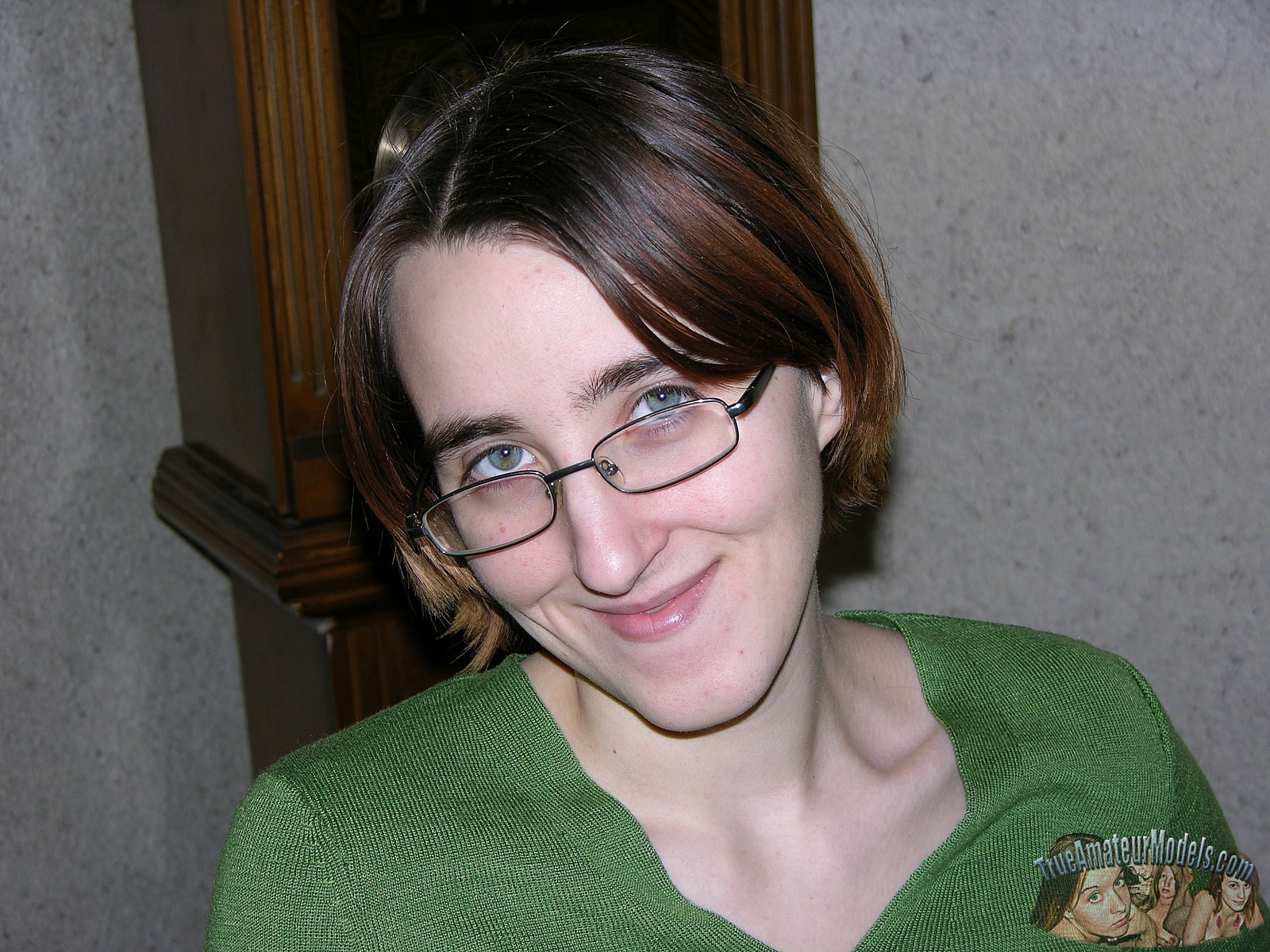 Nude with ugly girl glasses
