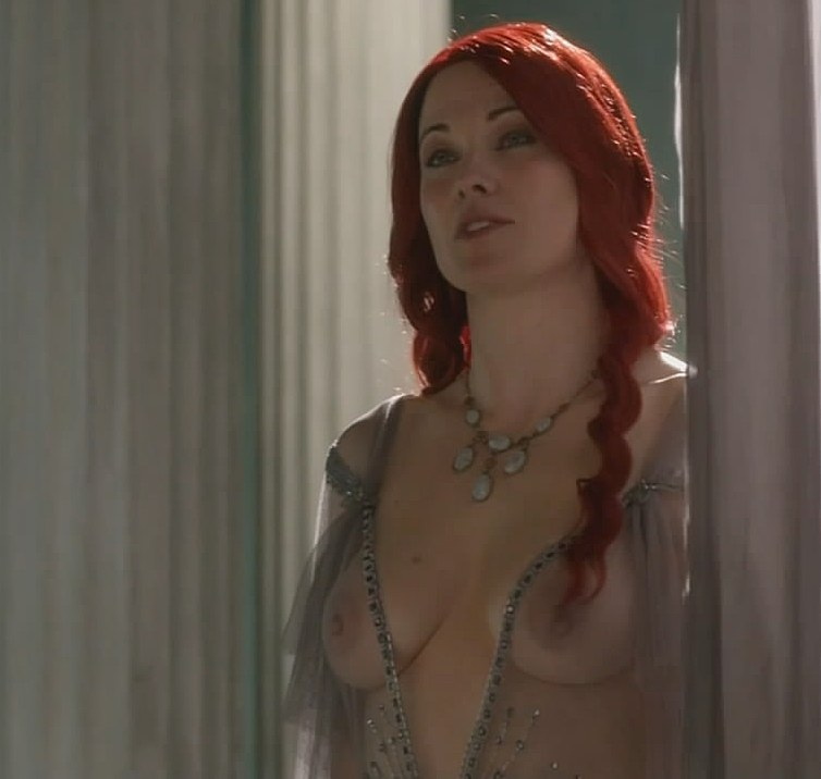 Lucy Lawless Nude Topless Spartacus Blood And Sand