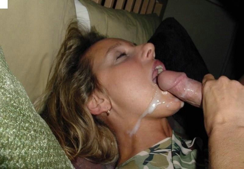 blowjob cum amateur Real