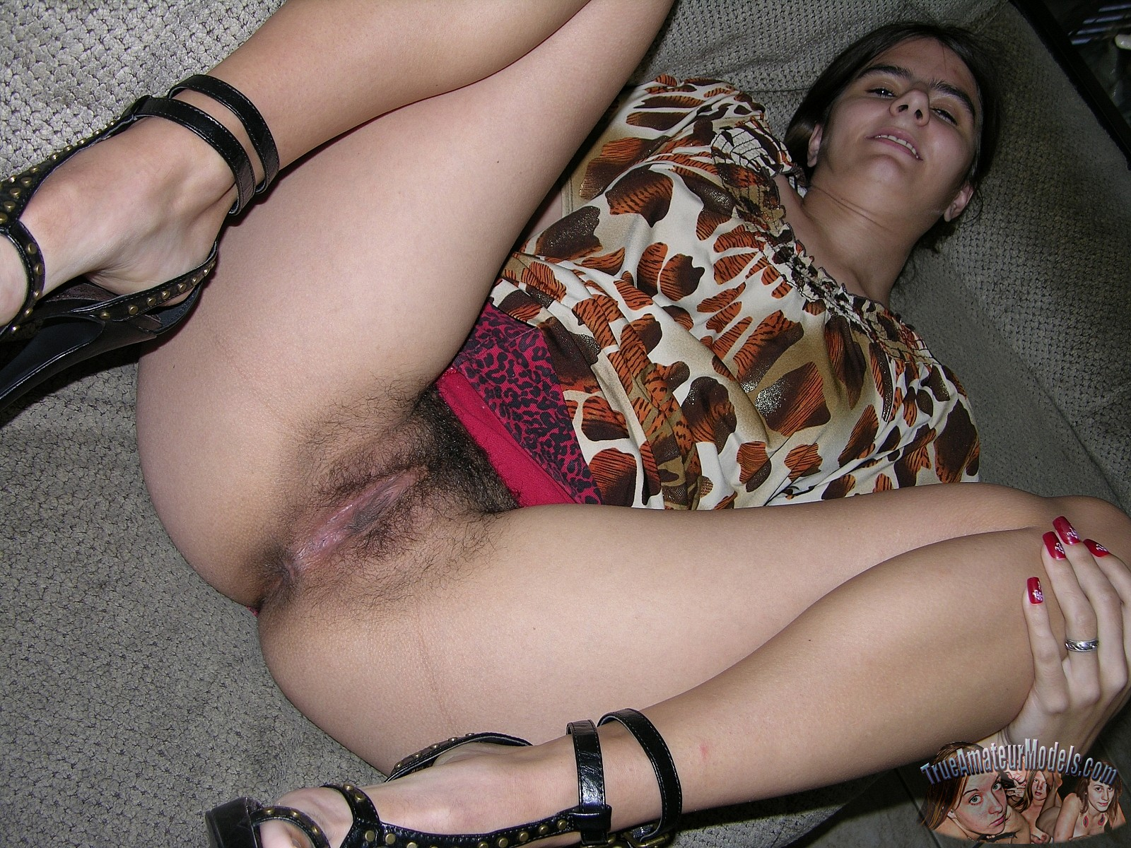 Hairy home nude girls pussy alone