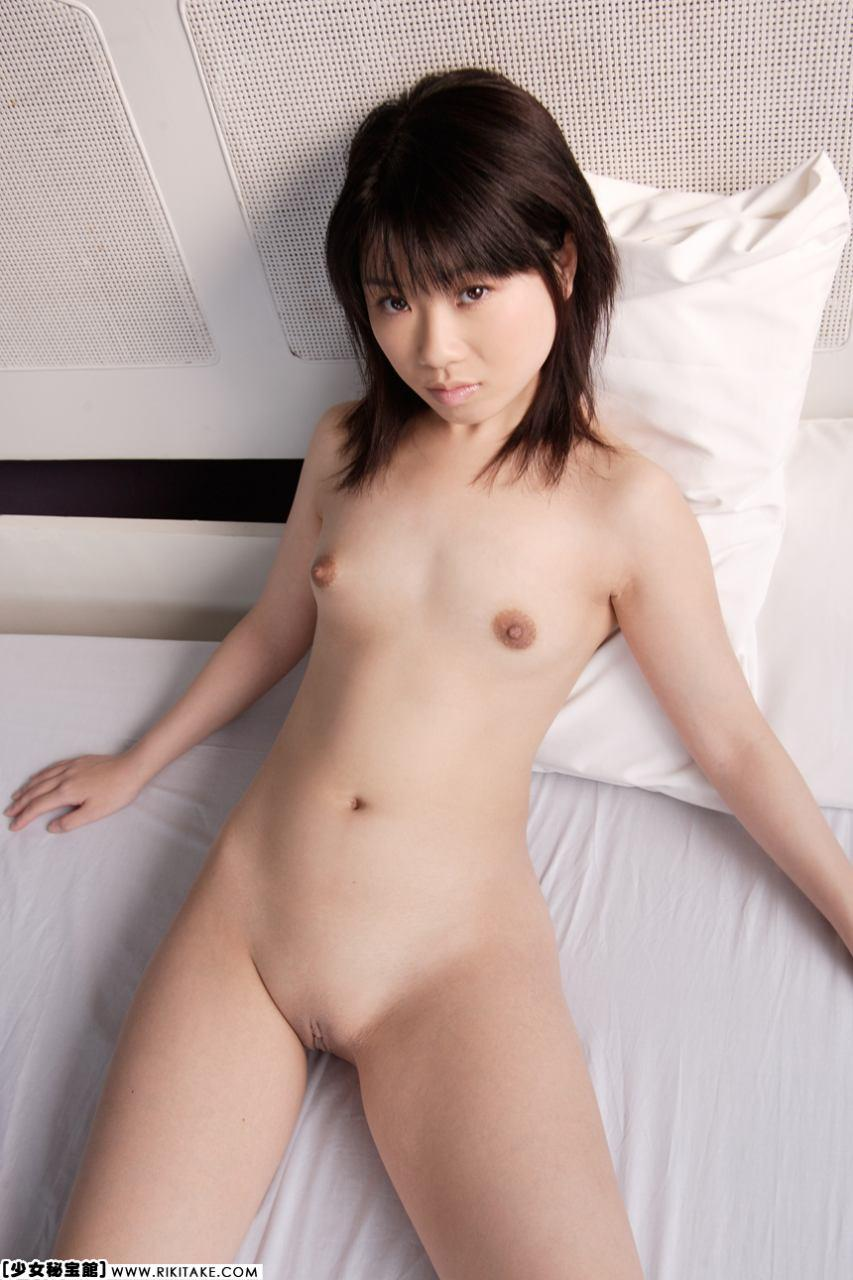 Flat girl asian chested