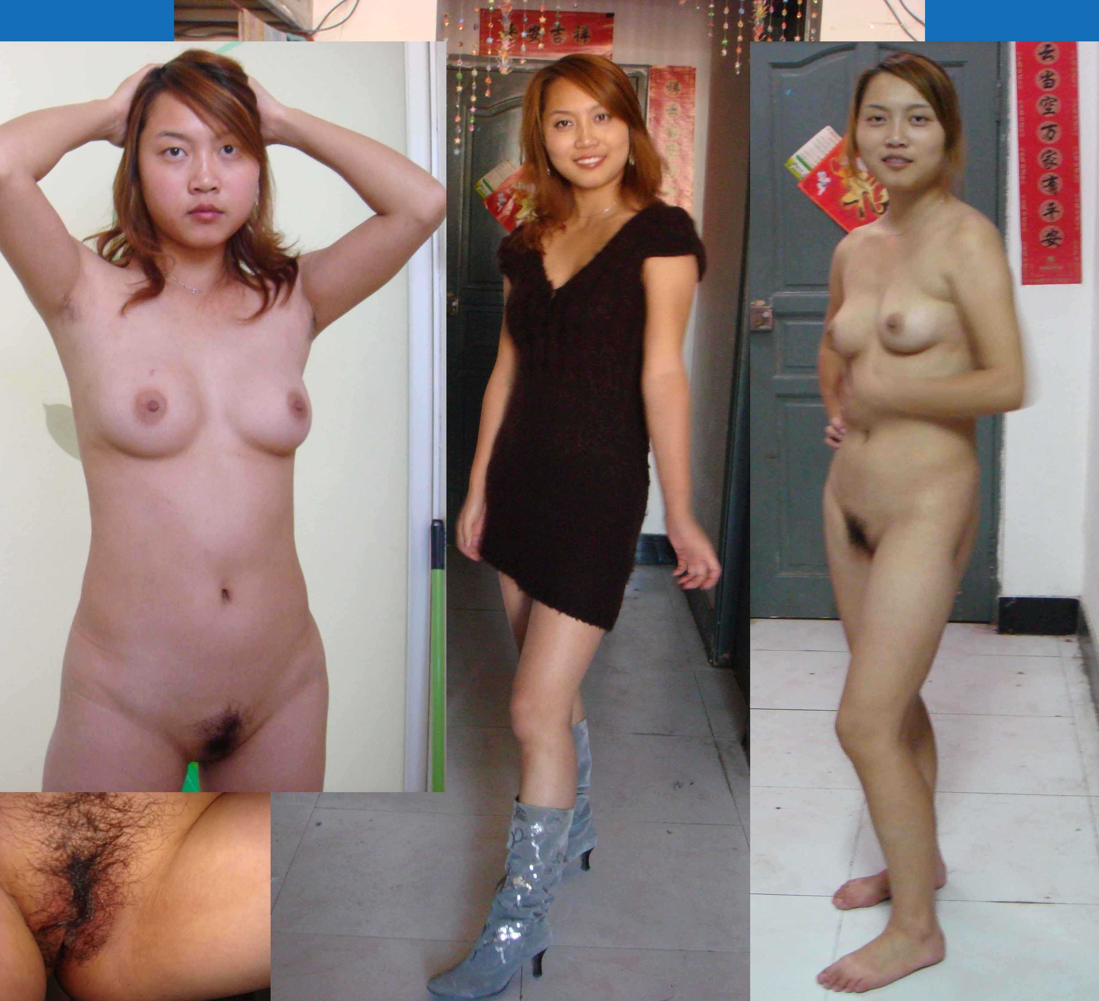 wife undressed Asian dressed