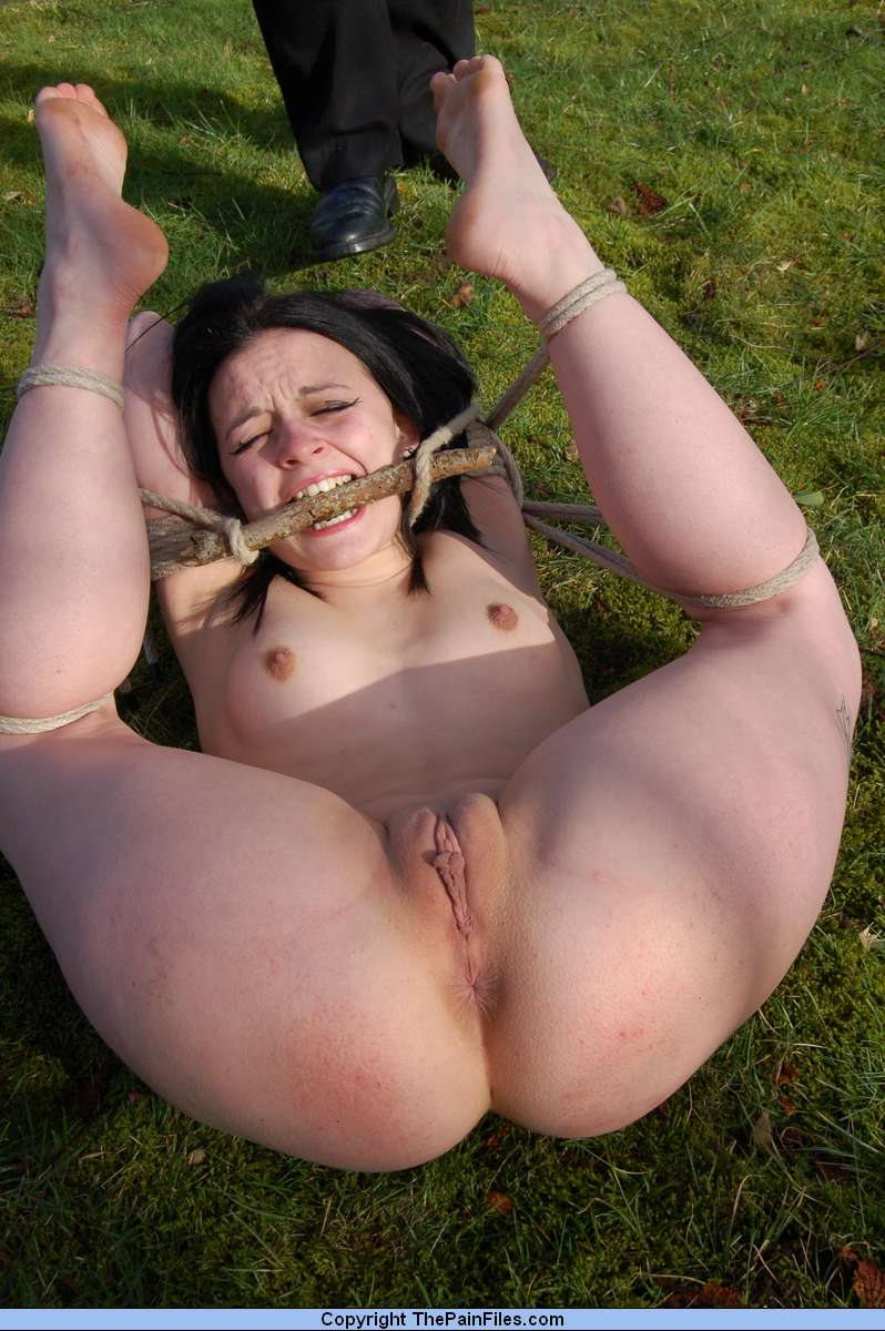 Girls tied nude outside agree