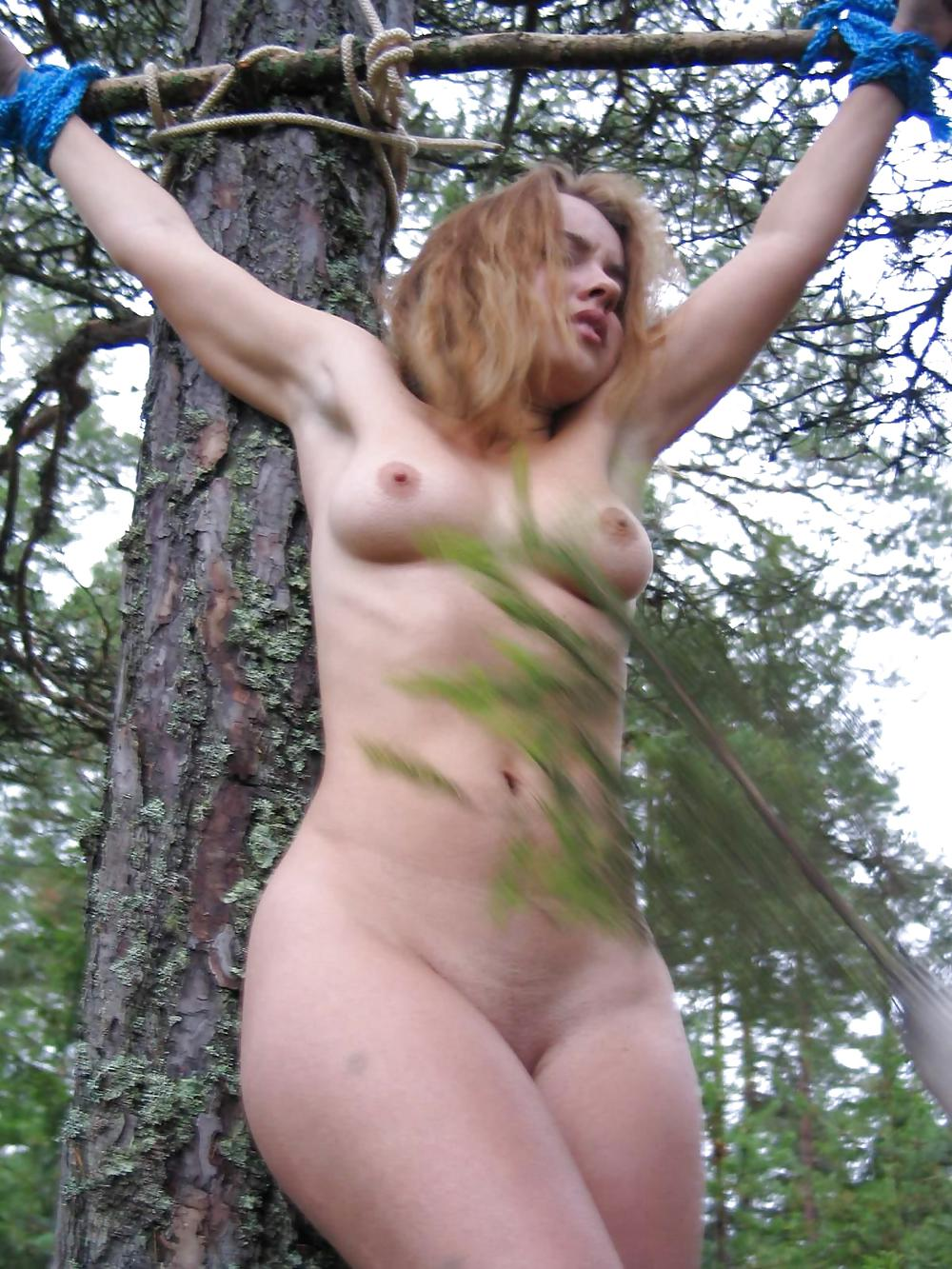outdoor in bondage women Mature