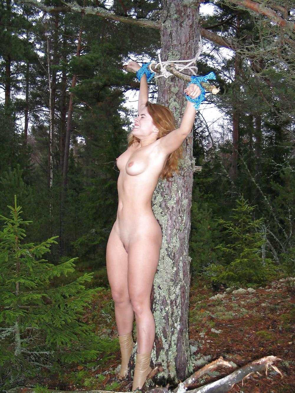 Entertaining question Nude women tied up outside the