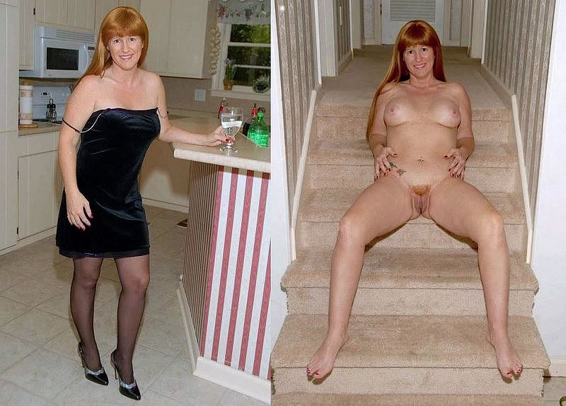 Mature women clothed and unclothed