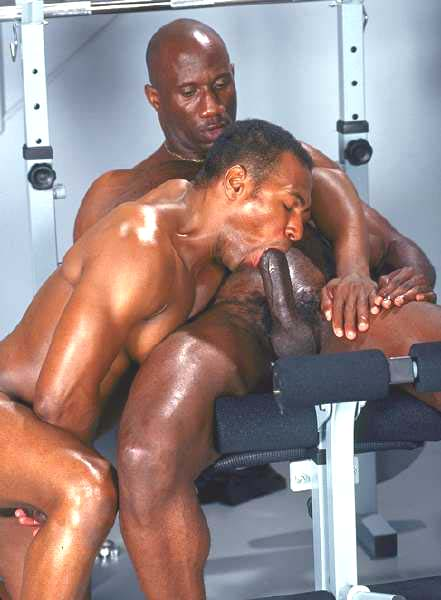 Oiled gay with black gay dick