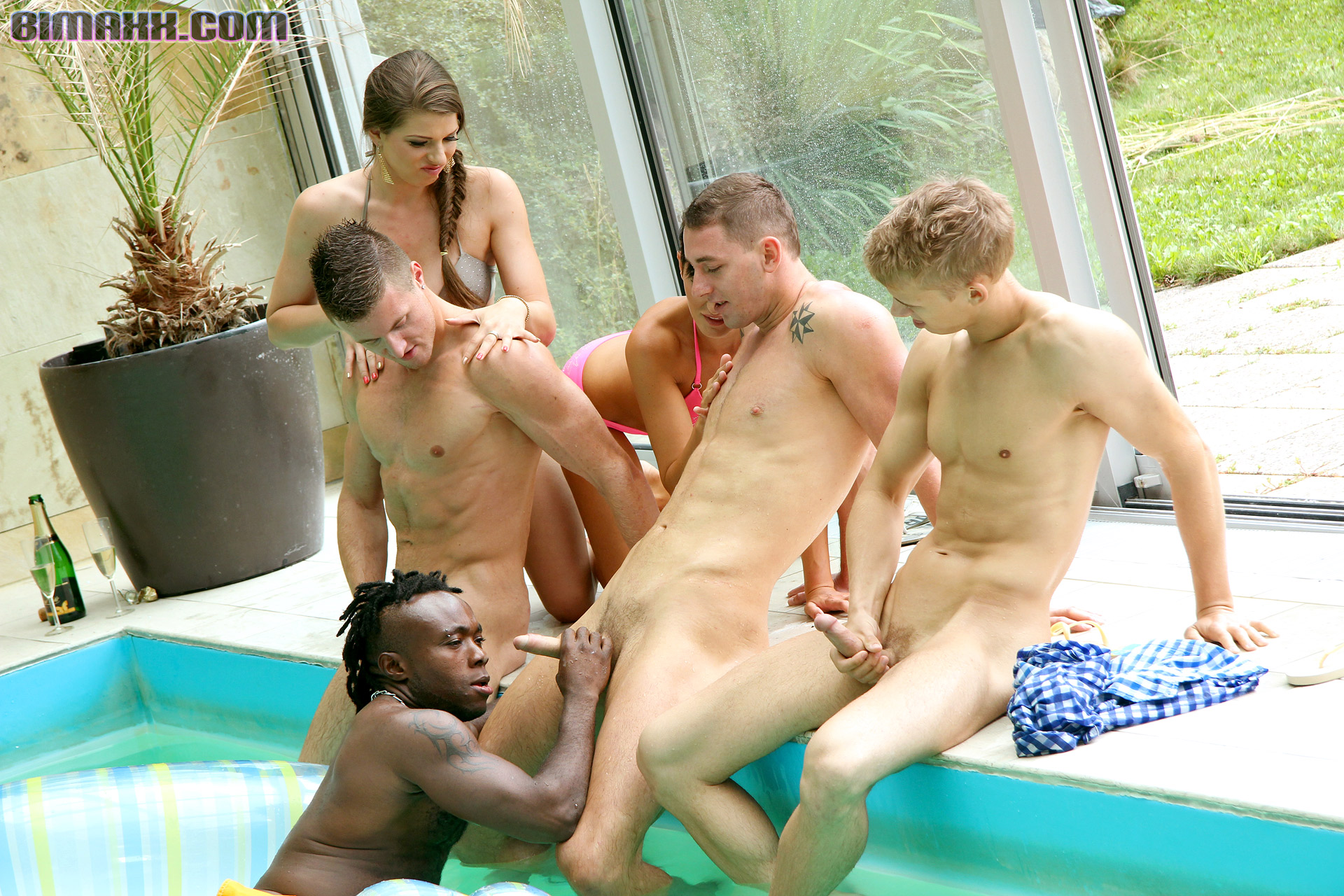 steamy bisexual party outdoor