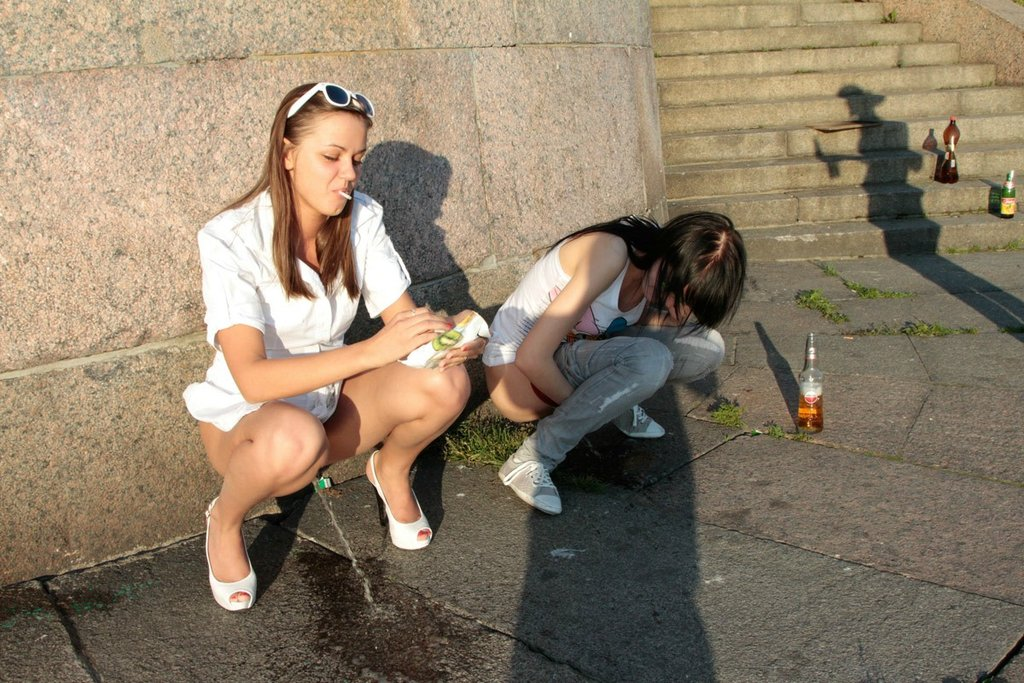 Pissing in public pics