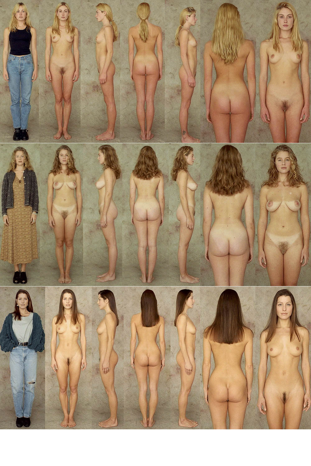 Naked women different body types pictures