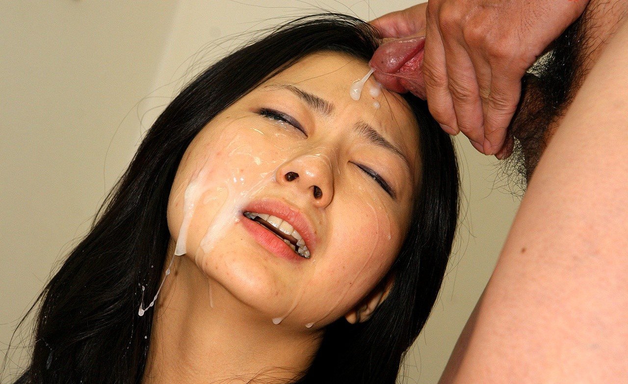 Pretty Asian Girl Covered In Cum